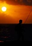 Tramonto a pesca