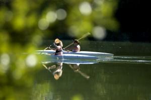 In canoa sul Tevere