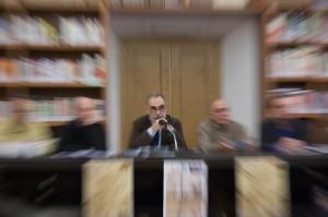Il delegato FIAF del Lazio (Lucio Governa) proferisce il verbo ai Presidenti ed agli iscritti FIAF