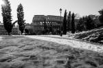 Vista Colosseo con la neve